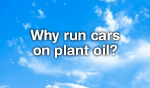 Why run cars on plant oil?