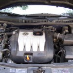 engine compartment before conversion