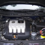 engine compartment after conversion